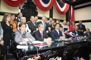 En la imagen, los diputados que conforman la Alianza por Costa Rica. CRH
