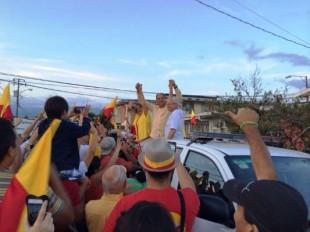 Solís cierra jornada electoral en escuela de Tibás
