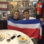 Bryan Ruiz comparte con Keylor Navas luego de su primer clásico con el Real Madrid