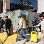 Estudiantes bloquean uno de los accesos del aeropuerto de la capital mexicana