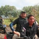 Solís llevó tamales hechos por su familia a policías de la frontera del Caribe Norte