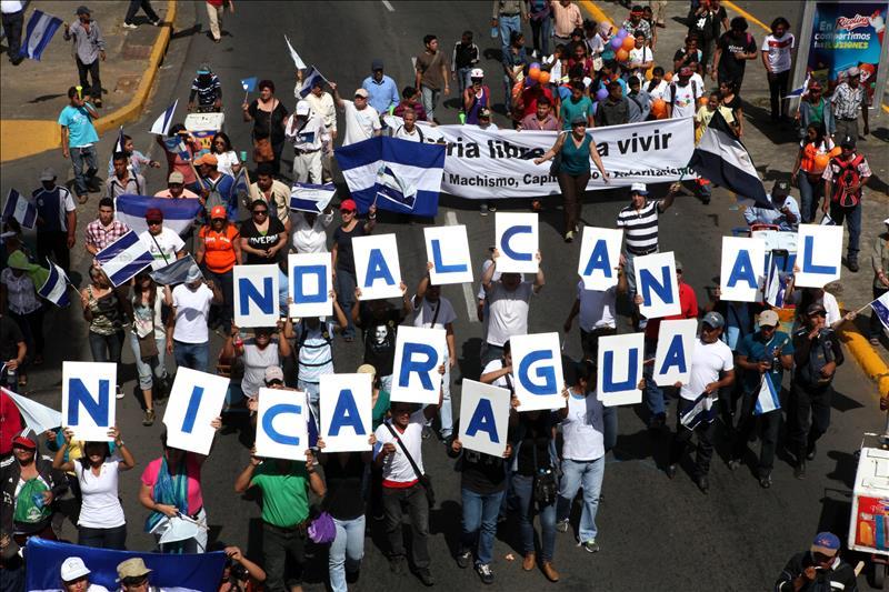Opositores a canal de Nicaragua buscan llevar su queja a líderes de la Celac