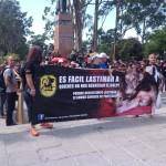 Decenas marchan en la manifestación de la muerte en contra del maltrato animal