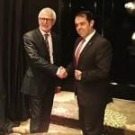 Alexander Mora se reunió con su homólogo de Nueva Zelanda para cabildear el ingreso a la Ocde