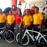 Cinco bomberos pedalearán más de 1.000 kilómetros por 150 aniversario de institución