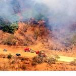 Reportan afectación en 190 hectáreas de áreas protegidas por incendios forestales