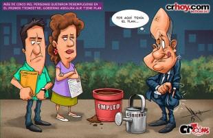 crToons: Más de cinco mil personas quedaron desempleadas en el primer trimestre, Gobierno asegura que tiene plan