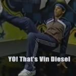 Vin Diesel en los 80´s: Flaco, bailaba breakdance y tenía corte afro