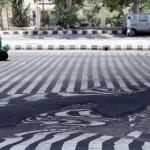 Las calles literalmente se están derritiendo en India por la ola de calor