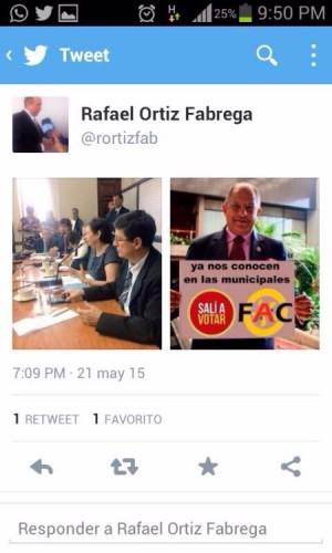 Tuit en cuenta del presidente legislativo levanta polémica, jerarca afirma que le 'hackearon' la cuenta