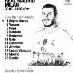 Keylor Navas es titular en duelo del Madrid ante el Milán