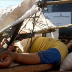 "Choferes ""crucificados"" marchan 15 kilómetros sobre carretas hasta Asunción"