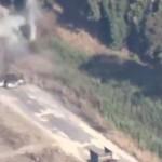 Video: Hombre se salva de milagro cuando un misil impactó su carro
