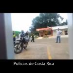 Video: Hombre enfrenta a policías con machete en Buenos Aires de Puntarenas