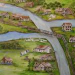 El agua se traga, poco a poco, a un pueblo de Louisiana