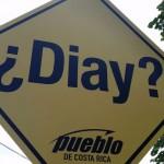 """¿Diay?"" Vuelven a colocar señal de protesta en puente de Paracito"
