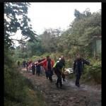Rescatan extranjeros que estaban perdidos en cerro Dantas